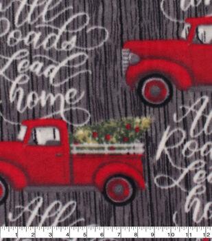Christmas Anti-Pill Plush Fleece Fabric-All Roads Lead Home