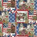 Christmas Cotton Fabric-Patriotic Horse Patch