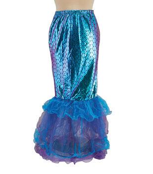 Maker's Halloween Adult Costume-Tutu Long Mermaid