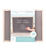 DCWV Home 20''x16'' Oak Gray Letter Board with 1'' White Letters, , hi-res