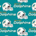 Miami Dolphins Cotton Fabric 58\u0027\u0027-Mascot Logo