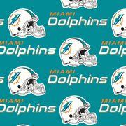 Miami Dolphins Cotton Fabric -Mascot Logo, , hi-res