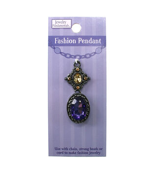 Jewelry Fundamentals Fashion Pendant - Purple Fashion Focal