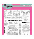 Pink & Main 17 pk Clear Stamps-Timber