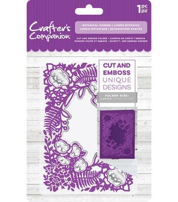 Crafter's Companion 4.25''x5'' Cut & Emboss Folder-Botanical Garden