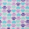 Blizzard Fleece Fabric -Cool Cat Paws