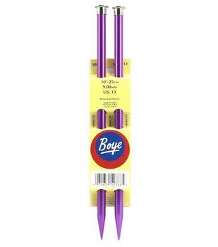 """Boye Single Point Aluminum Knitting Needles 10""""-Size 13"""
