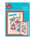 Papermania Folk Christmas A5 Decoupage Card Kit-Noel