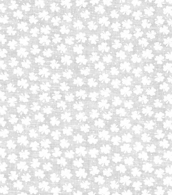 St. Patrick's Day Cotton Fabric -Mini Shamrocks Cream