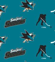 San Jose Sharks Fleece Fabric -Tossed, , hi-res