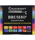 Colourcraft 12ct Brusho Crystal Colors Set