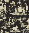 Waverly Lightweight Decor Fabric-Canton Bazaar /Ebony