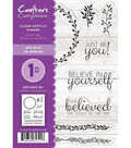 Crafter\u0027s Companion 10 pk Clear Acrylic Stamps-Believe in Spring