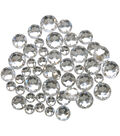 Blumenthal Lansing-Favorite Findings Sew-On Round Gems-Clear 47/Pkg