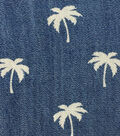 Sportswear Denim Fabric -Palm Tree