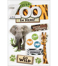 Paper House Zoo 3-D Stickers-