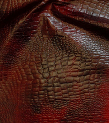 Fashion Suede - Coated Embossed Croco Wine Black
