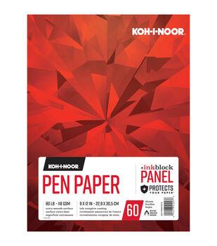 """KOH-I-NOOR 9""""x12"""" Pen Paper Pad-60 Sheets"""