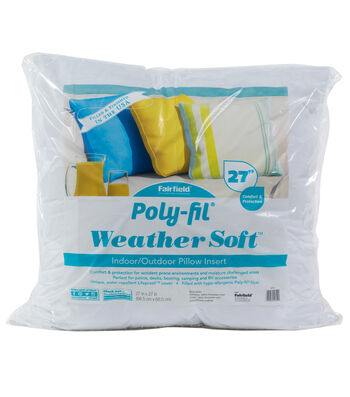 "Poly-Fil Weather Soft Indoor/Outdoor 27""x27"" Pillow Insert"