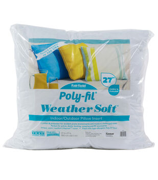 """Poly-Fil Weather Soft Indoor/Outdoor 27""""x27"""" Pillow Insert"""