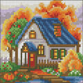 RTO Diamond Mosaic Embroidery Kit 15X15cm-Autumn House