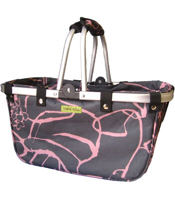 JanetBasket Large Cherry Aluminum Frame Bag