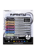 The Write Dudes Infinity 8 pk Metallic Permanent Markers-Assorted