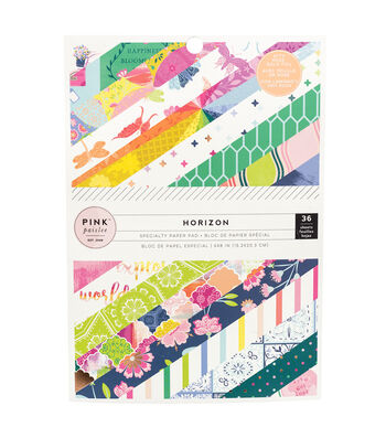 "Paige Evans Pink Paislee Single-Sided Paper Pad 6""X8"" 36/Pkg-Horizon"