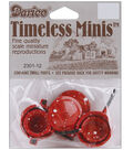 Darice Timeless Miniatures Red Pots With Lids