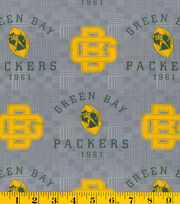 "Green Bay Packers Cotton Fabric 58""-Retro, , hi-res"