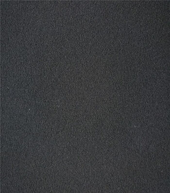 Stretch Crepe Knit Fabric -Black Solid
