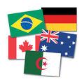 Teacher Created Resources International Flags, 72 Per Pack, 3 Packs