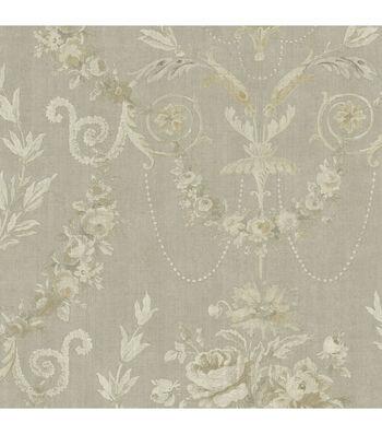 Grey Rose Urn Wallpaper