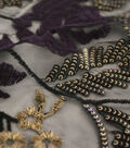 Casa Embellish Embroidered Sequin Fabric 56\u0027\u0027-Blackberry Wine Floral