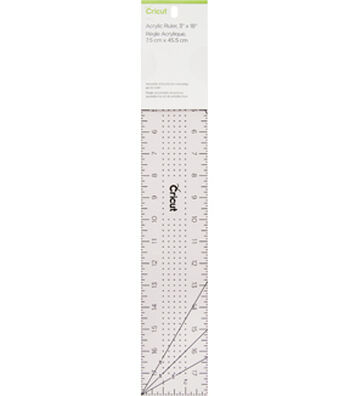 Cricut 3''x18'' Acrylic Ruler-Rose