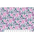 Premium Cotton Print Fabric 43\u0027\u0027-Watercolor Vines on Pink