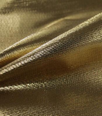 Metallic Apparel Lame Fabric 44''-Shiny Gold