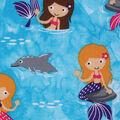 Novelty Cotton Fabric 43\u0027\u0027-Mermaids & Dolphins