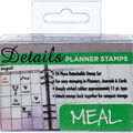 Contact Crafts Details 24 pk Planner Rubber Stamps-Meal