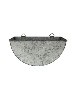 In the Garden 10'' Galvanized Metal Wall Planter