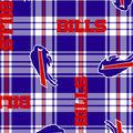 Buffalo Bills Fleece Fabric -Plaid