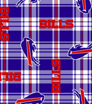 Buffalo Bills Fleece Fabric -Plaid, , hi-res