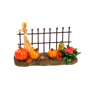 Simply Autumn Littles Wire Fence with Pumpkins