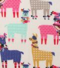 Anti-Pill Fleece Fabric 59\u0022-Party Llamas