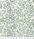 Batik Cotton Fabric-Cream Huckleberry Branch