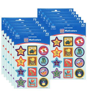 Carson Dellosa Nature Explorers Motivational Stickers 12 Packs