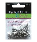 Eyelet Outlet Eyelets & Washers -1/8\u0022, 100 Eyelets, 100 Washers
