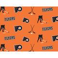 Philadelphia Flyers Fleece Fabric -Tossed