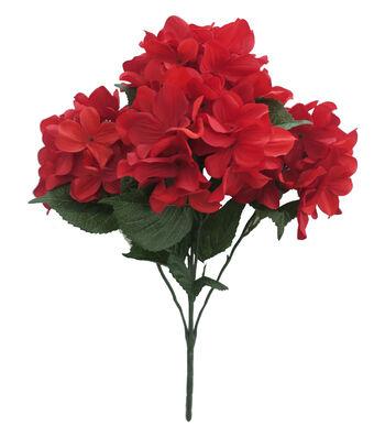 Fresh Picked Spring 20.5'' Hydrangea Bush-Red
