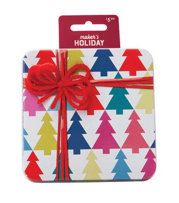 Maker's Holiday Tin-Multi Color Christmas Trees